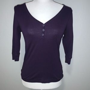 Old Navy Purple 3/4 Sleeve Shirt
